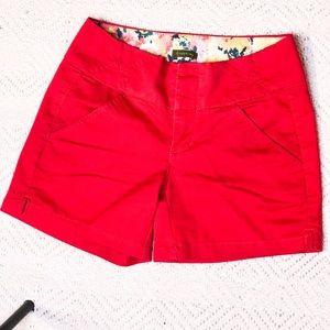 Copperkey size one red shorts.